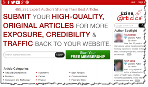 EzineArticles Keyword Research