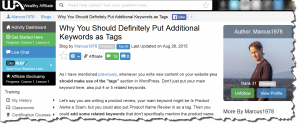 Consider Using WordPress Post Tags