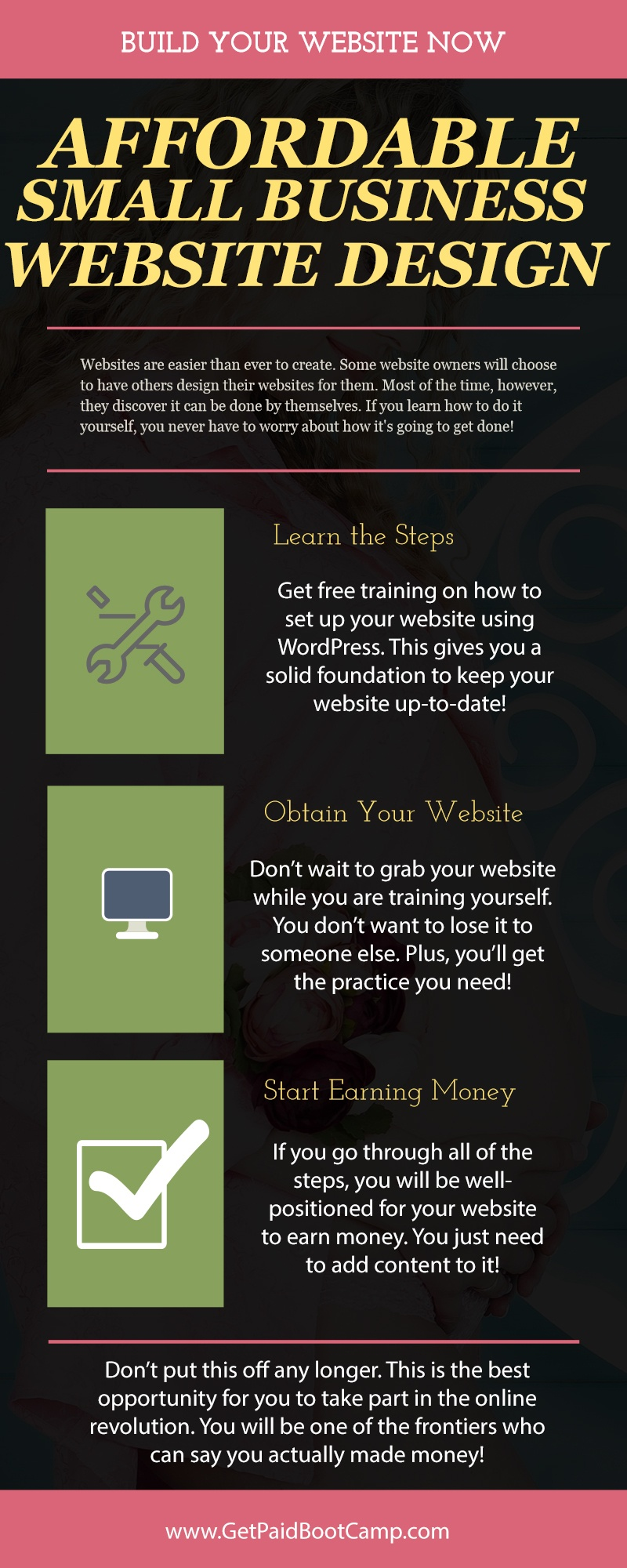 Need affordable small business website design get paid boot camp embed this infographic copy it solutioingenieria Image collections