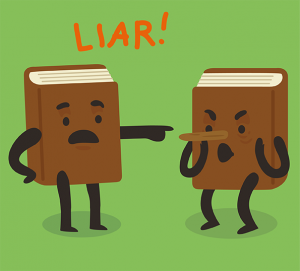 One Book Calling the Other a Liar