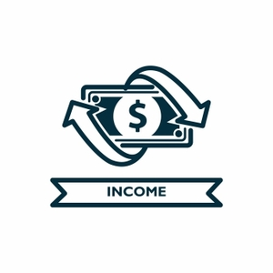 Dollar Sign with Label Income