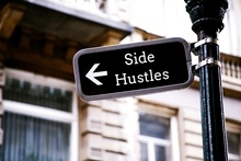 Side Hustles on Street Sign