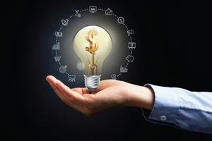 Lightbulb with Dollar Sign