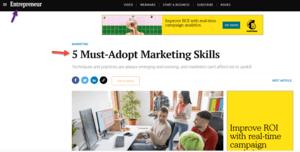 Entrepreneur marketing skills