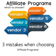 3 Mistakes When Choosing Affiliate Programs