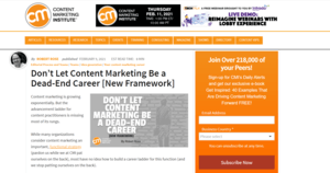 Content Marketing Not a Dead-End Career