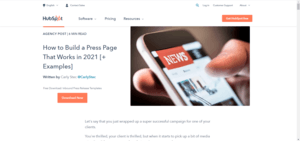 Press Page from HubSpot