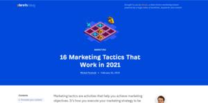 Ahref 16 Marketing Tactics