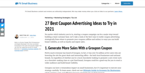 Coupon Fit Small Business