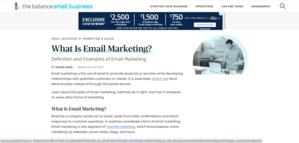Email Marketing Balance SMB