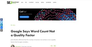 Google WordCount SEJ