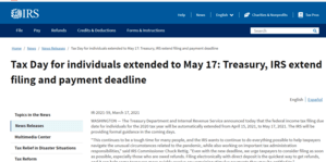 IRS Extended Deadling
